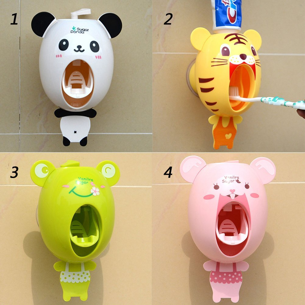 Bath Cute Toothpaste Squeezer Plastic Toothbrush Holder Cartoon Design
