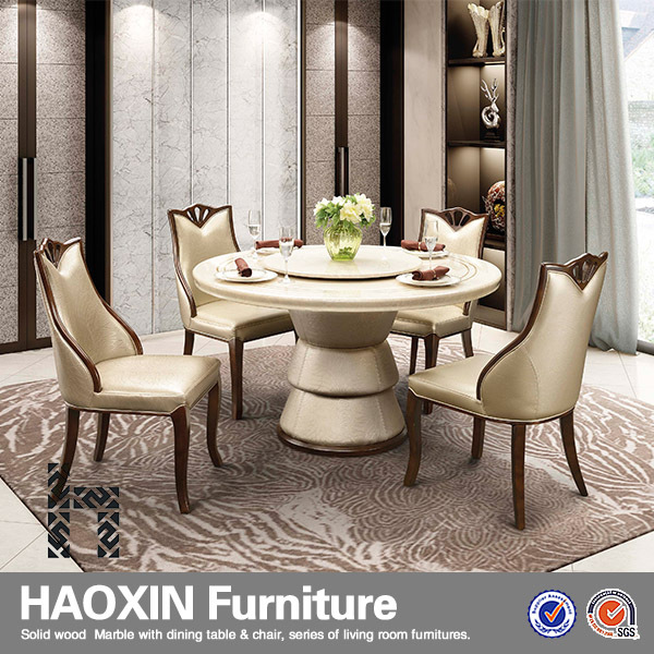 Modern Design Dining Table Tables And Chairs Round Set With Marble