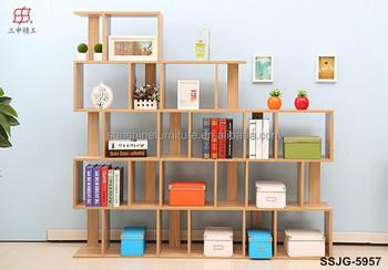 moderne houten boekenkast boekenplank boekenkast met studie tafel bureau boekenkast combinatie voor kinderen