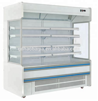 Open air display chiller refrigerated produce display cooler