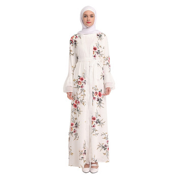 Flower 2019 Designs Fashionable Islamic Clothing White Beautiful Muslim Girl Womens Knitted Draped Cardigan