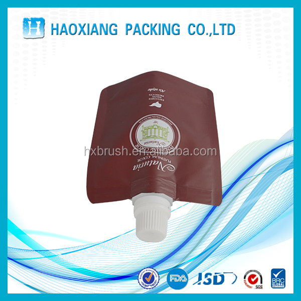 plastic spout pouch hair for conditioner / shampoo packaging bag