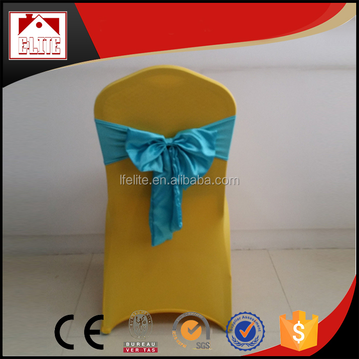wholesale spandex chair cover,satin chair ribbon for wedding