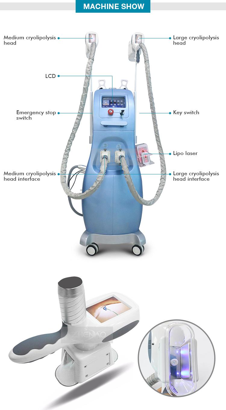 2017 HOTTEST salon Cavitation RF laser Cryolipolysis freeze fat slimming machine