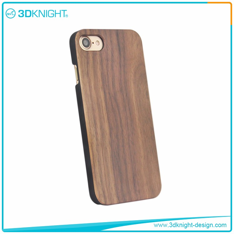 Real Walnut black bamboo wooden mobile cover,wooden bamboo cover shell for iPhone 7