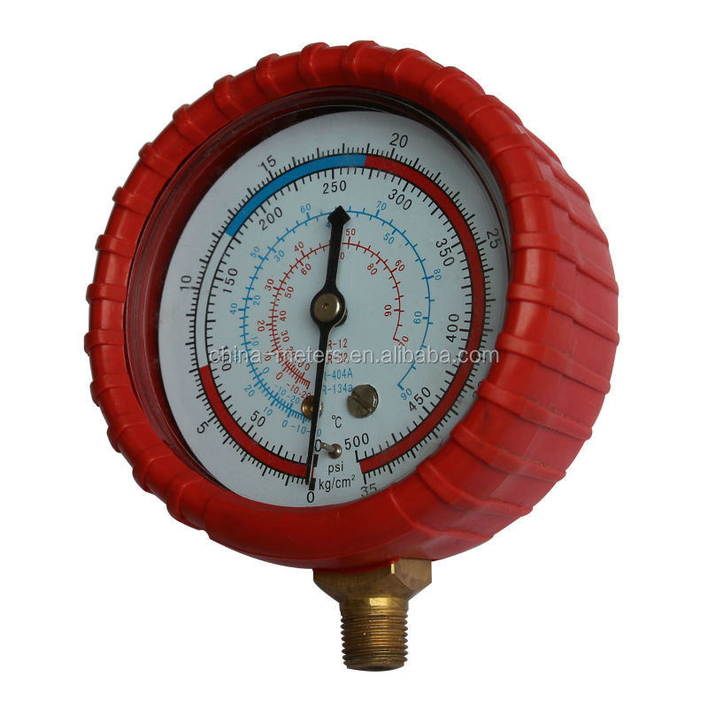 Pressure gauge with red rubber cover