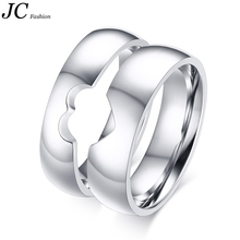 Fashion Heart Match Stainless Steel Unique Engagement Rings
