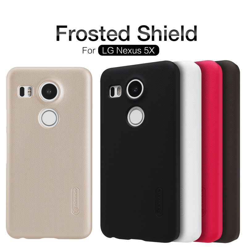 For LG Nexus 5X Case Nillkin Super Frosted Shield Case Back Cover For Nexus 5 x Case + Screen Protector