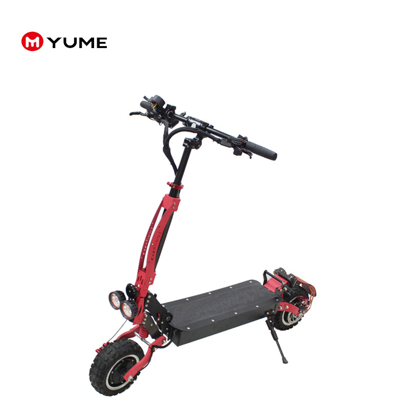YUME YMG11 60v 3200w 1600w dual motor mini electric scooter foldable two wheel electro scooter with seat for adult