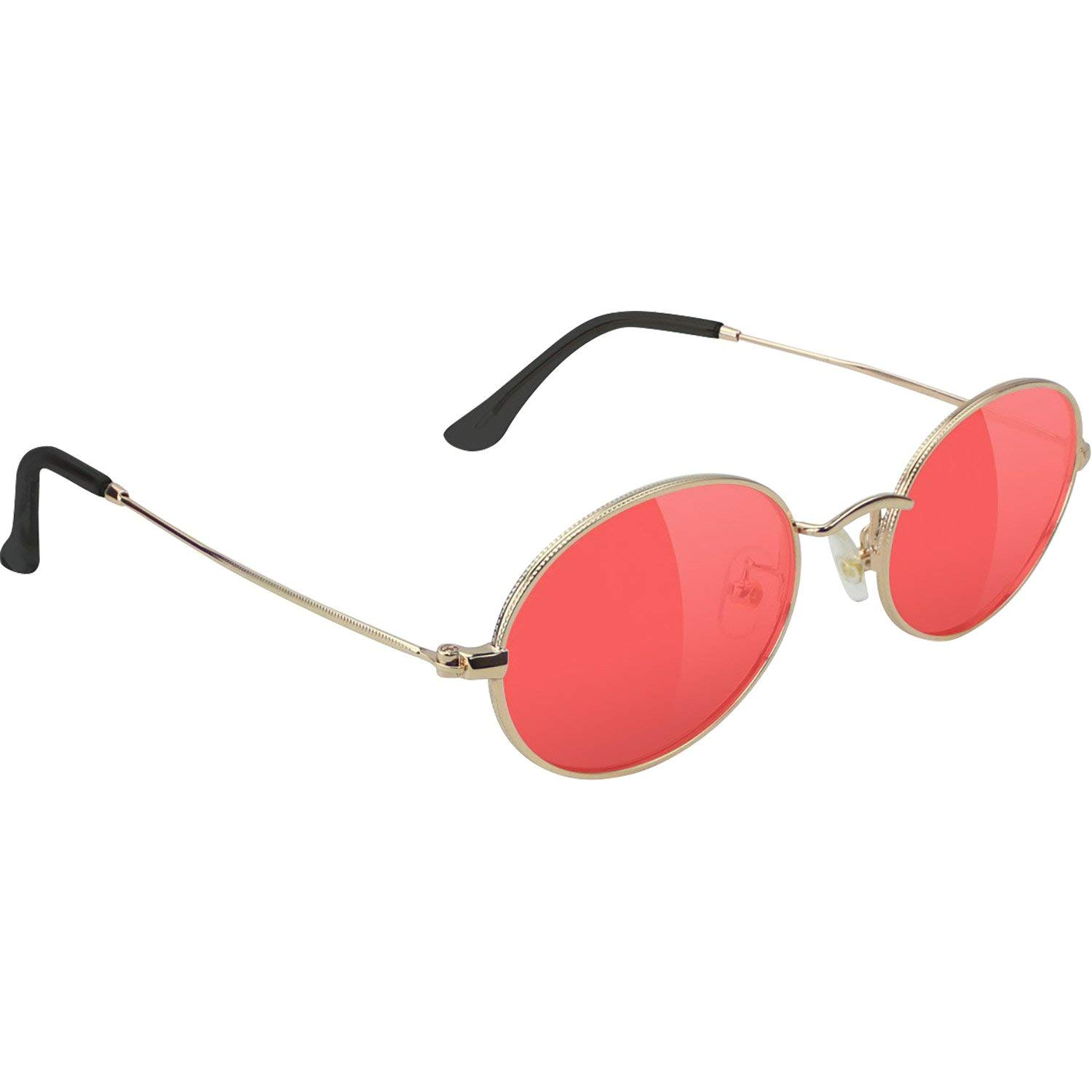 e142322ac42 Get Quotations · Glassy Sunhaters Stark Gold Red Sunglasses