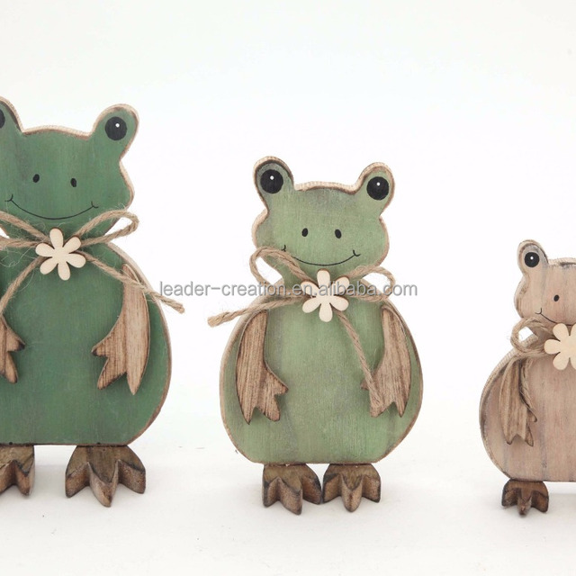 Funny easter gifts wholesale easter gift suppliers alibaba funny painted standing frog family animal easter ornaments wooden decorations negle Image collections