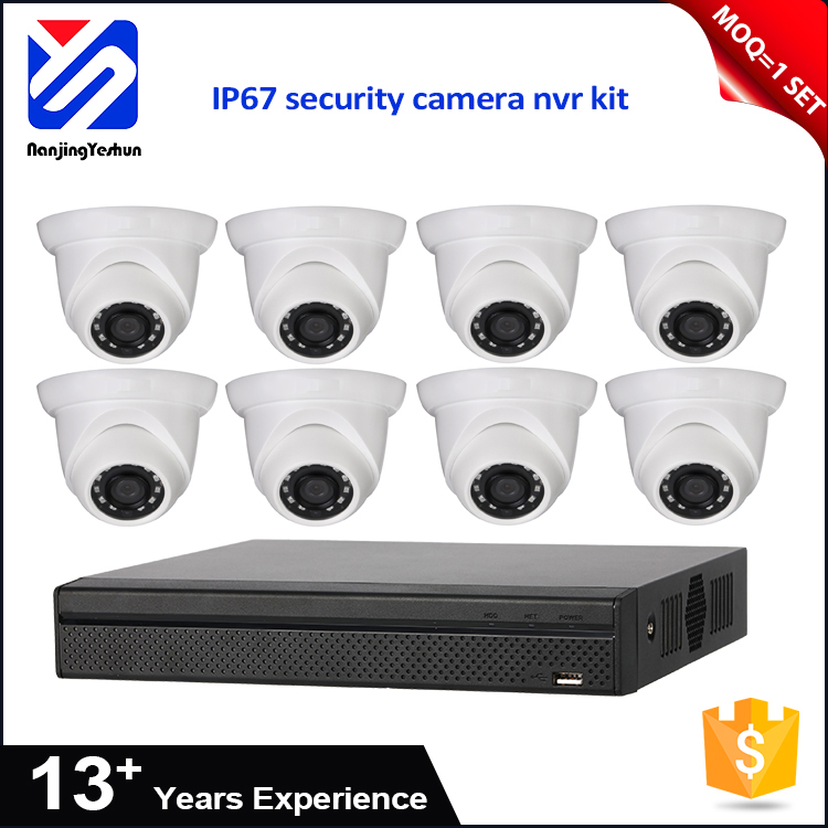 top 10 cctv cameras H.264 focal length 2.8 mm 3.6 mm alhua ip camera 1/4/8/9 multi-screen display nvr kit