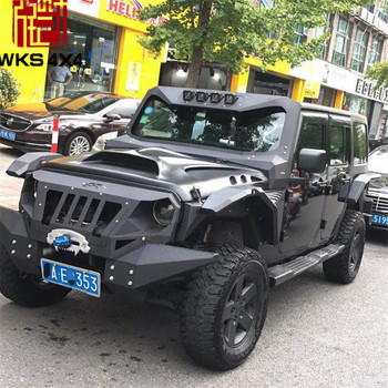 light wrangler factory winch plate jeep textured with fog jk front full black holes restyling and width shop bumper