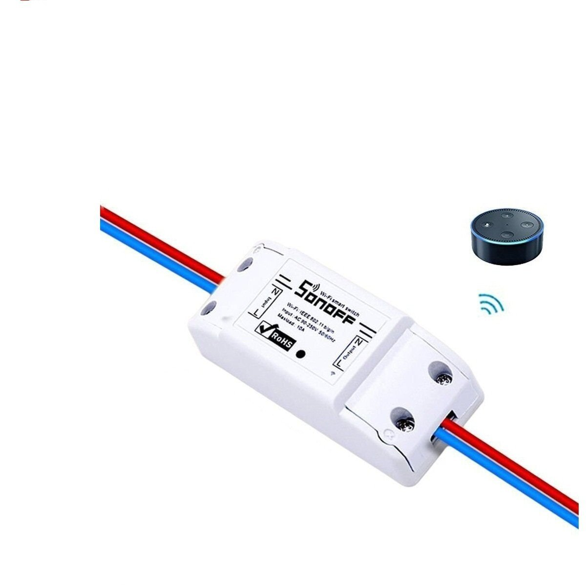OWIKAR Smart WIFI Switch Wireless Remote Control Timer ABS Module Universal Home Intelligent Center Socket Compatible with Alexa DIY Your Smart Home via iphone Android APP