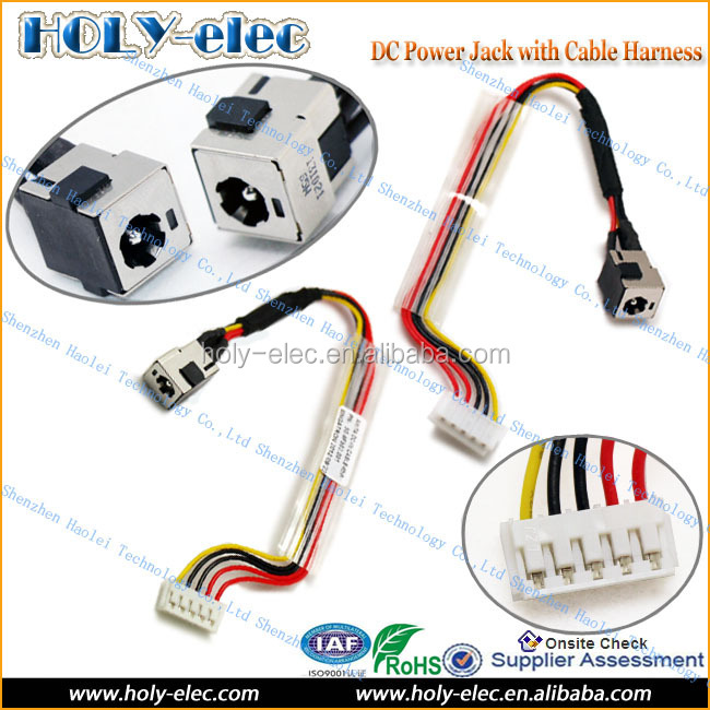 DC Power Jack PORT HARNESS FOR HP PAVILION DV2000 W/ CABLE 50.4F502.002 65W(PJ117)