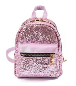 New style fashion wholesale custom private label school bags kids glitter shinning sequin backpack with logo and printing