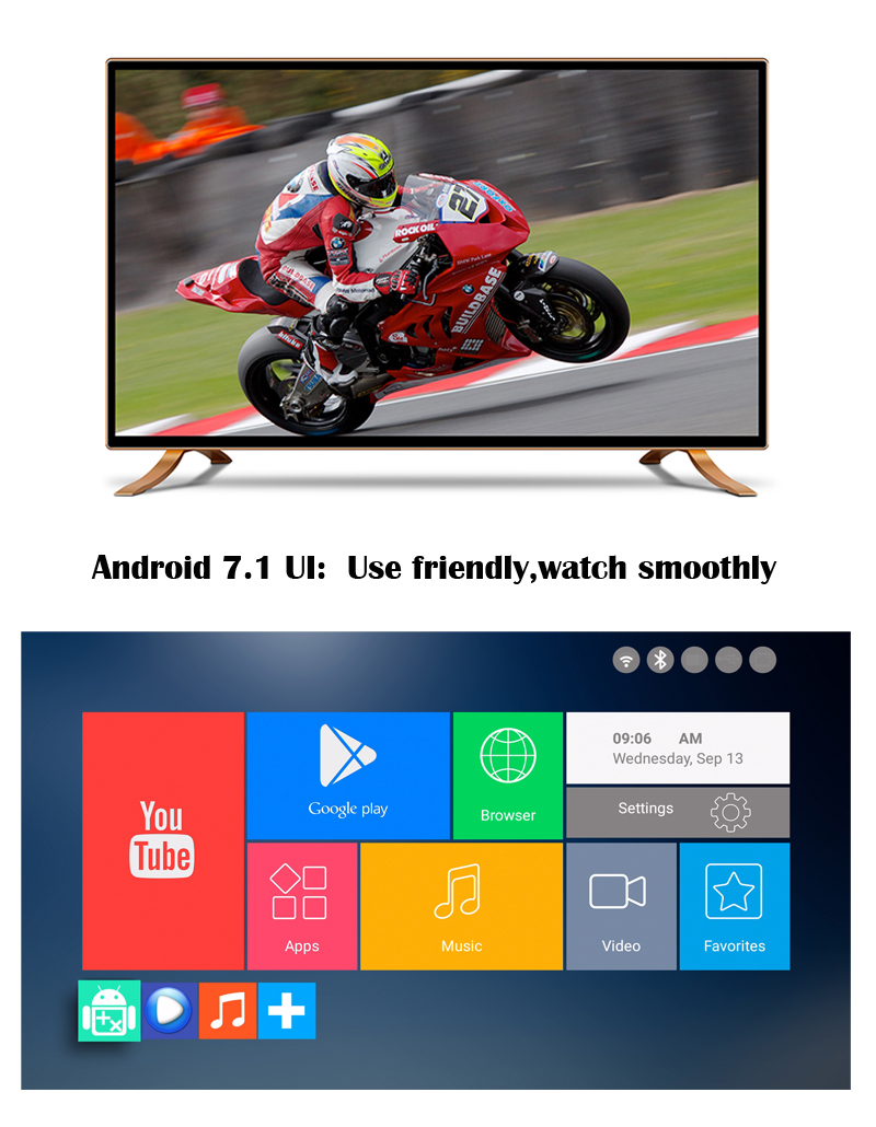 2017 New design IRON world max tv box Android 7.1 quad core arabic android iptv tv box 2GB 8GB