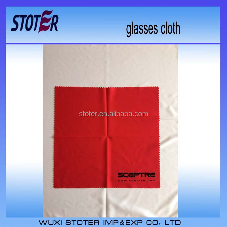 2015 Hot sale Import digital printed glasses cleaning cloth with custom size