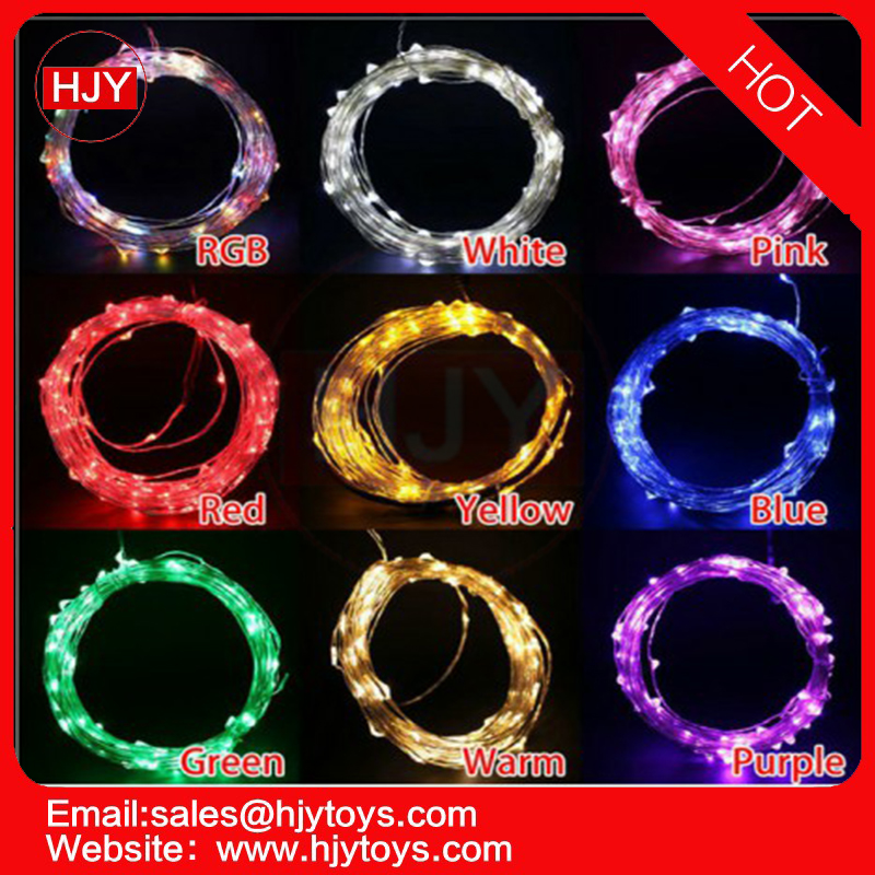 RGB LED light strings copper wire Hot Selling 10M 100 LED String Outdoor Decoration Holiday 12V 220V Christmas String Light