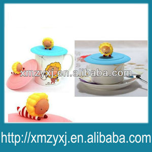 silicone suction cup lid/covers/cap for coffee/drinking cup