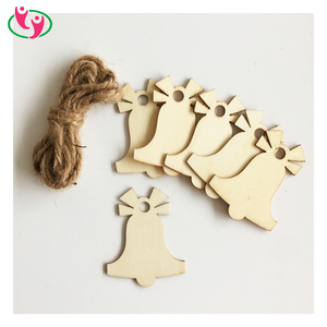 Laser Cut Holiday Decoration Tag Hanging Wood Ornament
