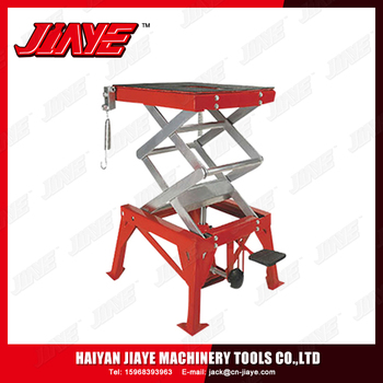 Manual Hydraulic Control Motorcycle Lift Table