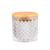 Cd147 New Hot High Quality Large Capacity High White Glass Himalayan Salt Candle Holder For Banquet