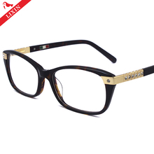 NO MOQ Lastest Luxury Diamond Eyeglass Frames Lady Vintage Acetate Optical Frames 602R
