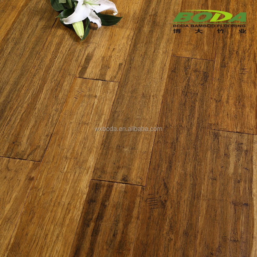 Strand woven bamboo flooring 14mm thickness-Antique carbonized