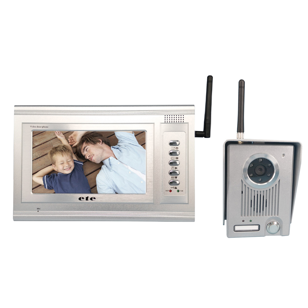 7inch color monitor intercom wireless video door phone with 2.4GHZ