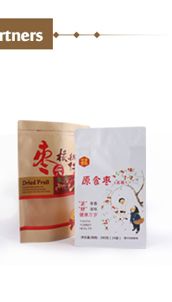 manufacturer promotion sale biodegradable brown paper food zipper sealed stand up pouch bags with window