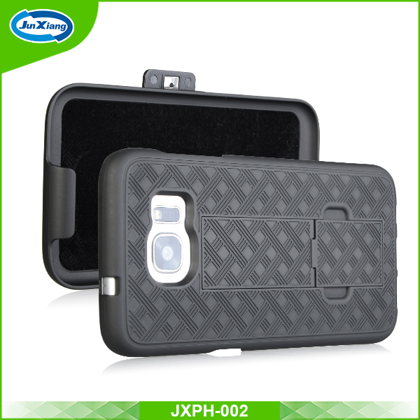 Top sale rubber with plastic 2 in 1 cell holster case for Samsung S8 plus