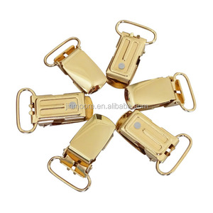 MSC01 Gold Metal Suspender Adjuster Clip,Baby Dummy Clips With Nickle Free