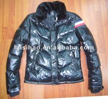 2012 mens shiny black down feather jackets