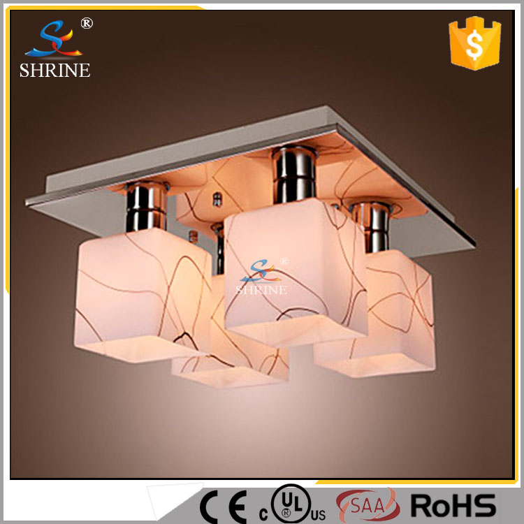 Wholesale <strong>Modern</strong> Glass Square Ceiling Lamp Lighting Model : SC8001-4L
