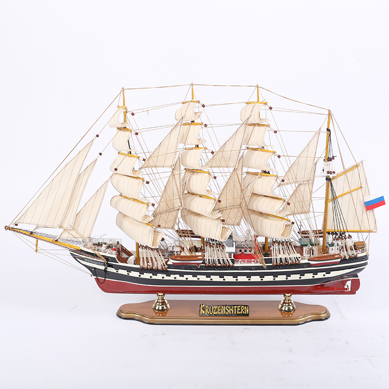 Mettle New Arrival Length 80 CM Large Sailboat Model Boat Crafts Exquisite Sailing Ship Arts