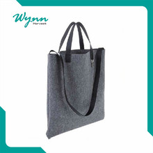 Low price china manufacturer felt shoulder shopping tote bag