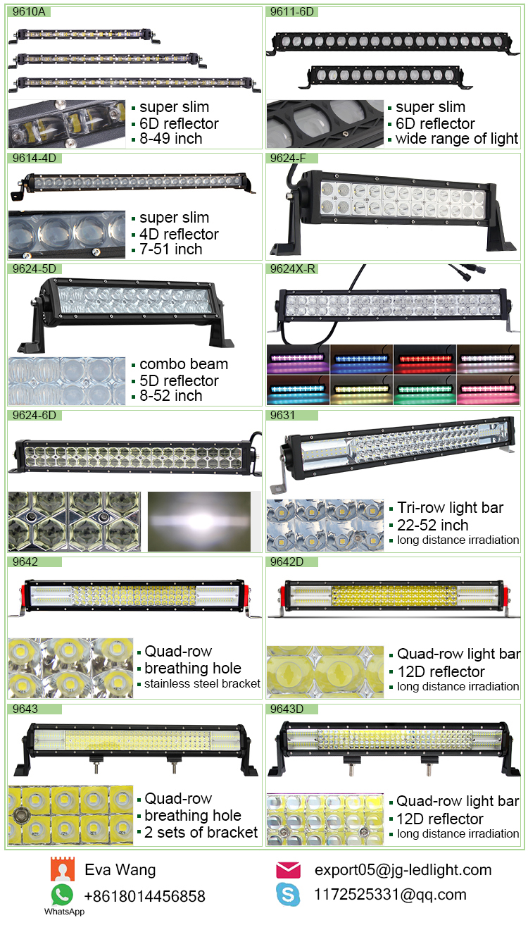 E mark 12D 22 inch 52INCH Led Bar, 12 volt Off road Driving Truck New Car Curved Led Light Bar