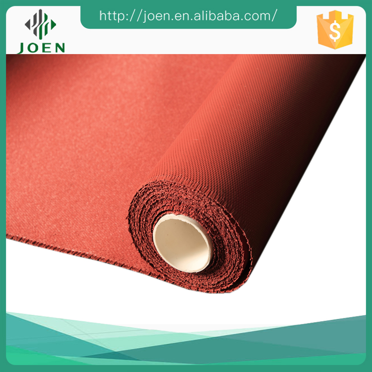 0.8mm High Temperature Silicone Fabric Cloth Red Fireproof Silicon Blanket