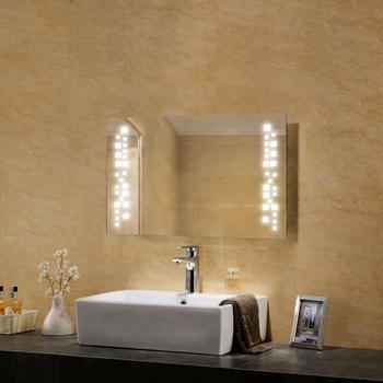 Hotel Pet Film Anti Fog Shower Led Light Bathroom Mirror Buy Led