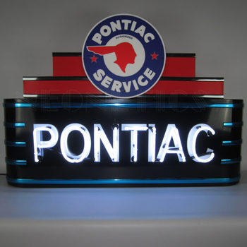Pontiac metal can neon sign decoration line neon light in steel can for sale