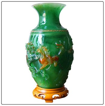 Big Size Chinese 8 Horse Vasesfengshui Vase Good For Home