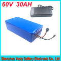 60V 30AH Lithium Battery with 1000W BMS Chargrer E bike Electric Bicycle Scooter 60V 1000w Lithium