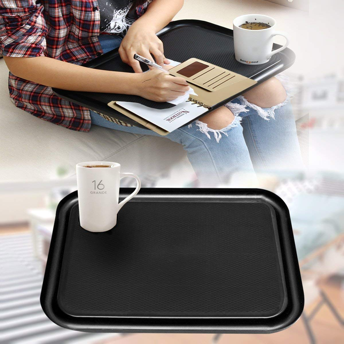 SAFETYON Handy Lap Top Tray Holder Laptop Table Outdoor Breakfast Learning Desk Quality Laptop Lap Desk TV Tray