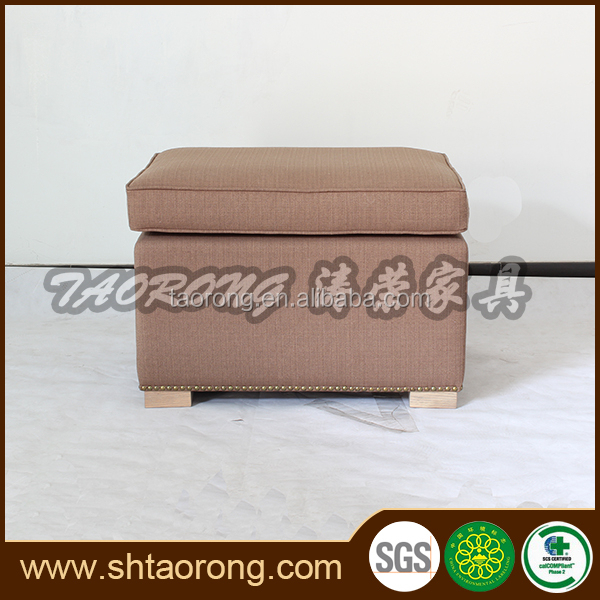 Modern chinese furniture companies wooden cube ottoman