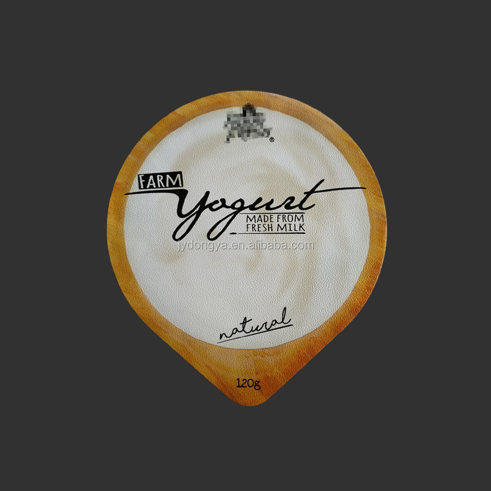 Aluminum Die Cut Lidding Foil For PS Yogurt Cup