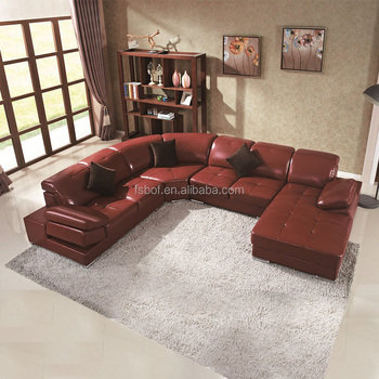 Beau Used Hotel Furniture U Shape Sectional Sofa Set Victorian Style Leather  Couch LZ129
