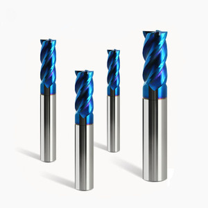 High Precision PCD 2 Flutes End Mills For Aluminum Cutting Tools