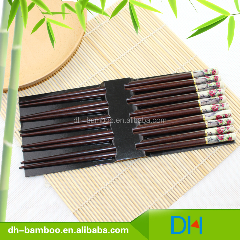 Wholesale Eco-Friendly Chinese Style Colorful Wooden Chopsticks