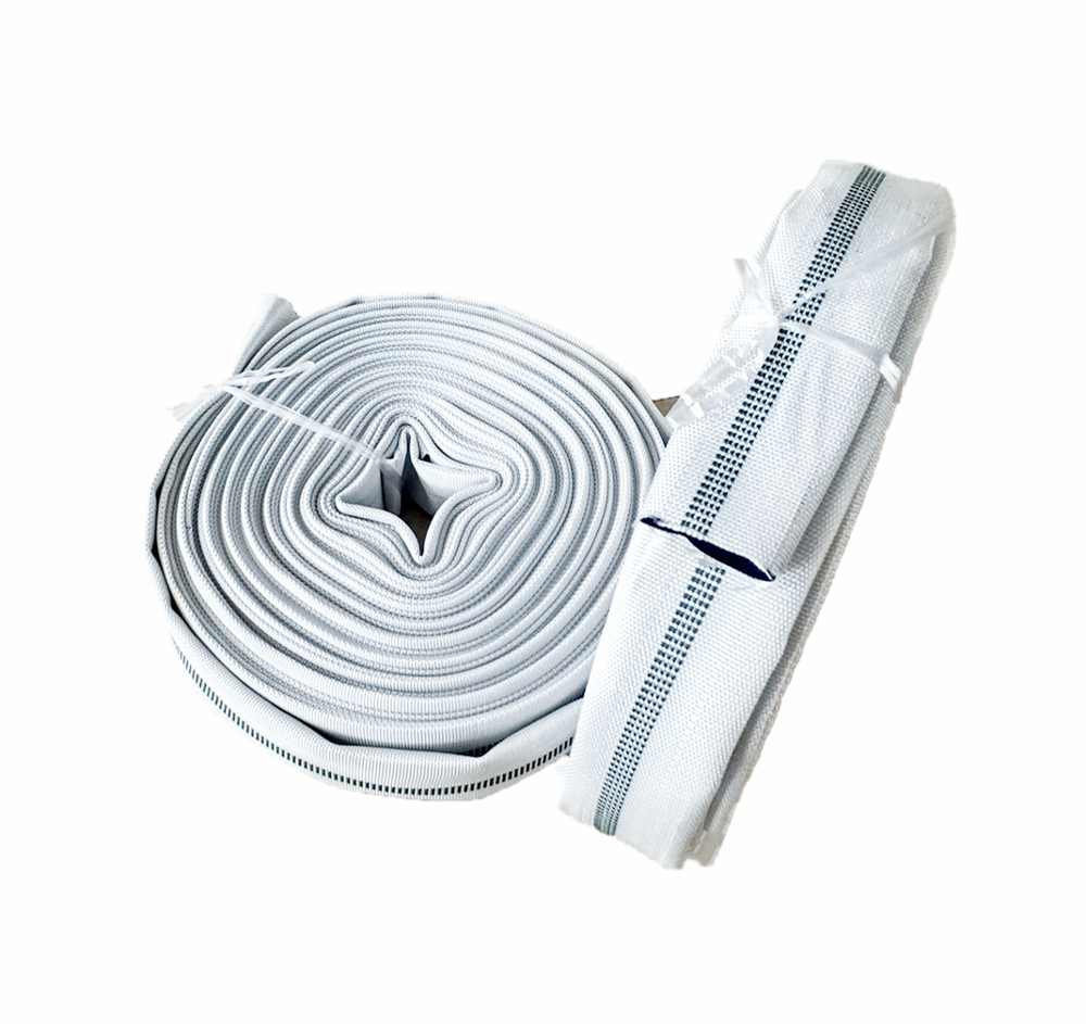 1.5 inch Wear Resistance High Pressure and Oil Resistant canvas <strong>covered</strong> PVC lay flat expandable garden hose/<strong>pool</strong> drain pipe